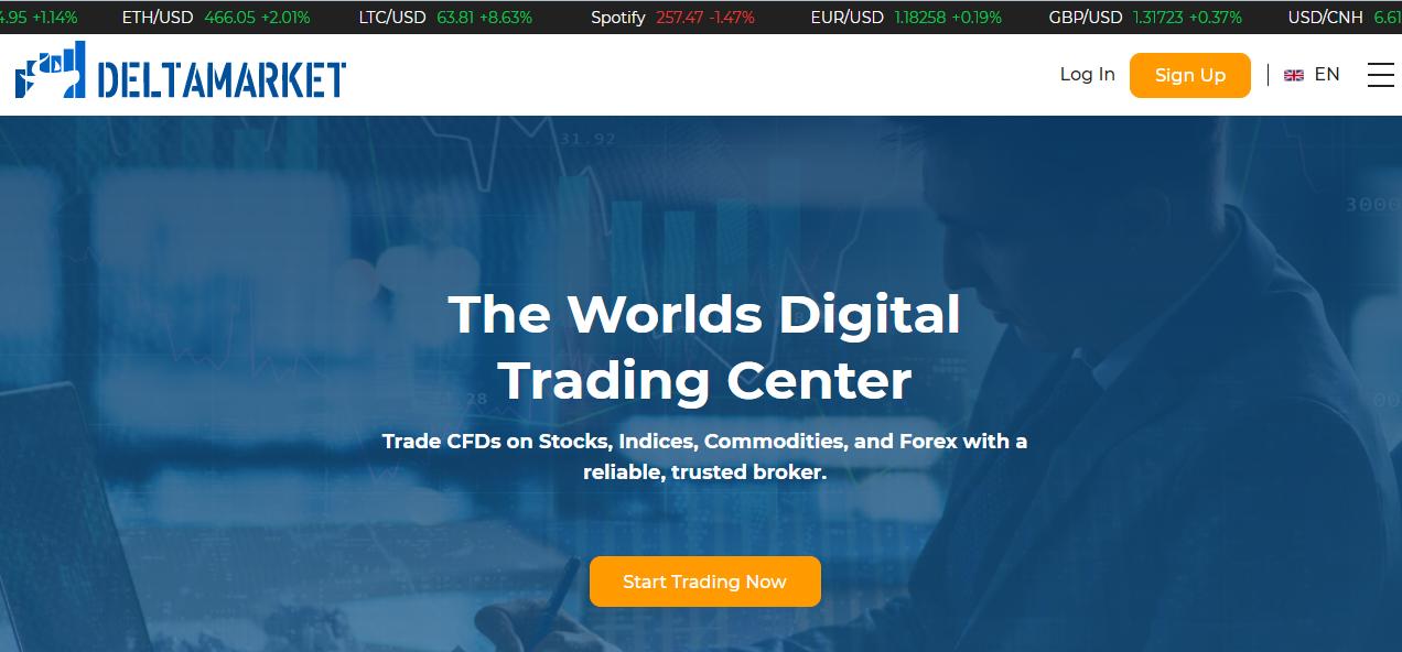 Deltamarket homepage